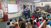 Mrs. LeBlanc impressing Dr. Waldip during their PBL launch ;)