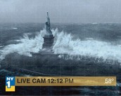 Giant Waves at the Statue of Liberty