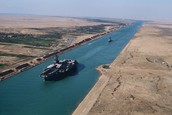Give three facts about the Suez Canal .