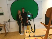 Recording with the green screen