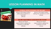 (1)Deconstructing the Curriculum Expectations