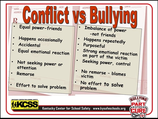 Bullying vs conflict