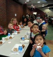 Mrs. Olcese's class enjoying lunch!