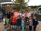 Our class together on our playground!
