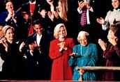 Hillary Clinton, Sammy Sosa, Tipper Gore and Rosa