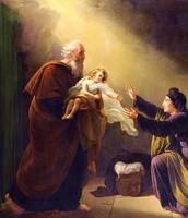 אליהו נותן לאישה הצרפית את בנה לאחר שקם לתחייה בזכות תפילתו של אליהו.
