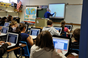 What types of technology were students using?