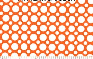 Orange/White 'Big N Small Dots©'