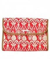 Hang On - red Ikat
