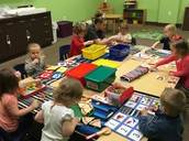 Learning Toys- 3 minutes at each spot