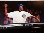 MJ playing for the cubs