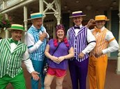 Employees of the theme park