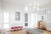 Poppenvilla in kinderdagverblijf Villa Vondel Amsterdam