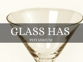 Potassium in glass