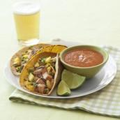 Tacos con pinnaple and pork (Noventa y sies pesos)