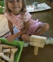 Oona proud of her castle
