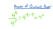 Power of a Quotient Power
