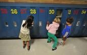 Lockers In Elementary School