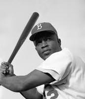 Jackie up to bat