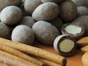 Dark Chocolate-Covered Cinnamon Dusted Almonds