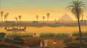 The Nile played a huge role in Egyptian lives