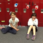 Sydney and Nola measured the length of our lockers using markers- a non-standard unit.