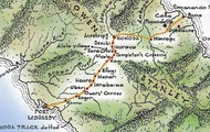 A map of where the Kokoda track is held.