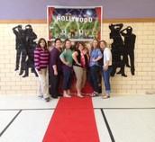 Staff appreciation runway walk!  The paparazzi was in full force!