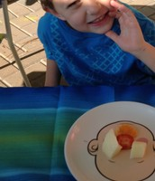 Chase says cheese to his food art