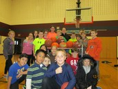 Students Cheer Teachers On in Foul Shot Competition