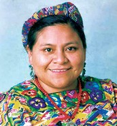 Dra. Rigoberta Menchú Tum Premio Nobel de la Paz  1992. Indígena k´iche. Guatemala.