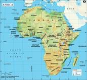 Africa sizes