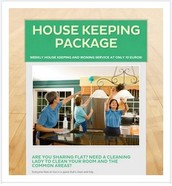 Weekly house keeping package @ 10€ flat