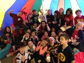 3H getting silly in the reading tent