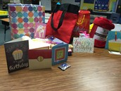 Awesome Birthday Loot for Ms. Boutz! Thank you!