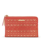 Coral double clutch bag