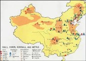 Natural Resource Map Of China