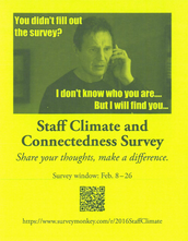SCHOOL STAFF CONNECTEDNESS SURVEY (FEBRUARY 8 - 26)
