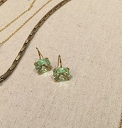 CUSHION DROP EARRINGS- SOFT MINT