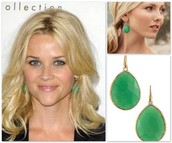 Serenity Stone Drop Earrings $49 (variety of stone colors)