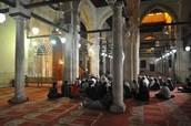 Muslims worshiping