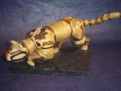 Student papier mache animal with embellishments
