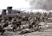 150,000 Allied soldiers stormed Normandy in France