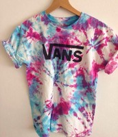 The tie dye shirt