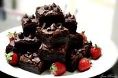 brownies con frescas