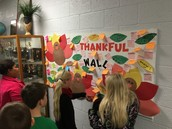 Our Thankful Wall at School.