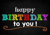 Happy birthday to our staff members who turn a year older this month...