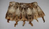 pelts shaped into clothing