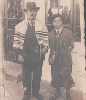 הלל הנער עם אביו, דב בצ'רנוביץ באוקריינה