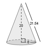 Surface Area of a Cone Example